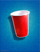 Amazing Digital Art Prints - The Amazing Red Solo Cup Print by Cristopher