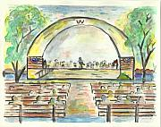Band Painting Originals - The Amazing Worthington City Band by Matt Gaudian