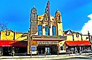 Philadelphia Digital Art Metal Prints - The Ambler Theatre Metal Print by Bill Cannon