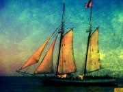 Sailing Ship Prints - The America Nr 2 Print by Susanne Van Hulst