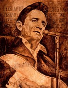 Johnny Cash Prints - The American Legend Print by Igor Postash
