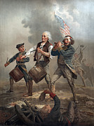 American Revolution Framed Prints - The American Revolution, Yankee Doodle Framed Print by Everett