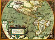 Chart Photos - The Americas, 1584 by Photo Researchers