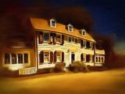 Haunted House Digital Art - The Amityville House by Robert Smerecki
