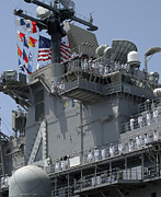 Boxer Metal Prints - The Amphibious Assault Ship Uss Boxer Metal Print by Stocktrek Images