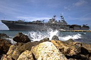 No 3 Prints - The Amphibious Assault Ship Uss Print by Stocktrek Images