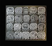 Mayan Ceramics - The Ancient Tzolkin Day Calendar by Bates Clark