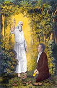 Angel Moroni Prints - The Angel Moroni Delivering The Plates Print by Everett