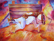 Puerto Rico Paintings - The Angels Nap by Estela Robles