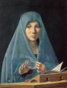 Blessed Mother Prints - The Annunciation Print by Antonello da Messina