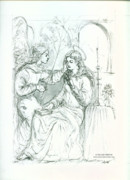 Annunciation Drawings Prints - The Annunciation Print by Dan Hammer