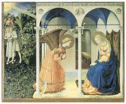 Religious Art Paintings - The Annunciation by Fra Angelico
