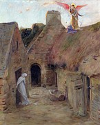 Annunciation Painting Posters - The Annunciation Poster by Luc Oliver Merson