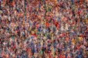 Individuals Prints - The Anonymous Croud Print by Denis Bouchard
