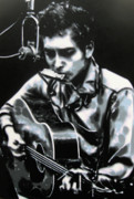 Bob Dylan Paintings - The answer my friend is blowin in the wind by Luis Ludzska
