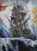 Pirates Digital Art Originals - The Antarctic Circle by Stefano Popovski