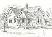Exterior Drawings - The Antique Shop by Kip DeVore