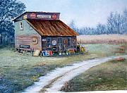Old Signs Paintings - The Antique Store by Sue Coley