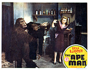 Horror Movies Posters - The Ape Man, From Left Emil Van Horn Poster by Everett