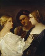 Titian Framed Prints - The Appeal  Framed Print by Tiziano Vecellio Titian