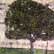Gustav Klimt Canvas Paintings - The Apple Tree II by Gustav Klimt