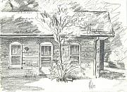 Building Drawings Framed Prints - The Appraisers Office Framed Print by Kip DeVore