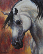 White Horse Painting Originals - The Arabian by Harvie Brown