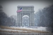 Valley Forge Acrylic Prints - The Arch at Valley Forge Acrylic Print by Bill Cannon