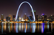 St. Louis  Posters - The Arch Poster by Shane Psaltis