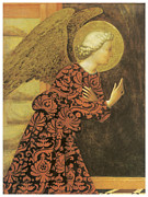 Angel Art Paintings - The Archangel Gabriel by Masolino Da Panicale