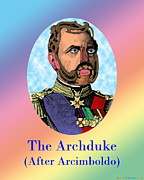 Archetypal Posters - The Archduke After Arcimboldo Poster by Eric Edelman