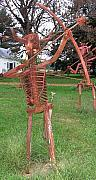 Iron  Sculpture Originals - The Archer Man by Larry Vennard