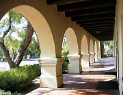 Churches Prints - The Arches Mission Santa Ines Print by Kurt Van Wagner