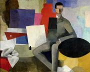 Shape Paintings - The Architect by Roger de La Fresnaye