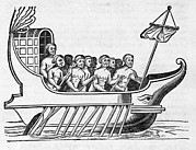 Rower Posters - The Argo, 17th Century Artwork Poster by Middle Temple Library