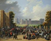 Crowd Prints - The Arrival of Louis-Philippe Print by Edouard Pingret
