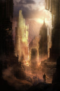 Science Fiction Metal Prints - The Arrival Metal Print by Philip Straub