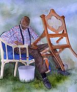 African-american Paintings - The Art of Caning by Jean Blackmer