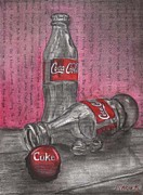 The Art Of Coca Cola Print by Maria Kobalyan