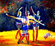 Sports Art Mixed Media - The Art of Dancing by Romy Galicia