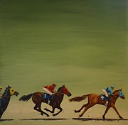 Riding Paintings - The Art of Racing by Jennifer Lynch