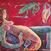 Alluring Painting Originals - The Art of Seduction by Jacob  Wachira Ezigbo