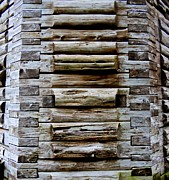 Log Cabin Art Photo Prints - The Art Of Wood 2 Print by Randall Weidner