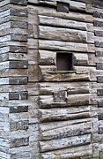 Log Cabin Art Photo Prints - The Art Of Wood 3 Print by Randall Weidner