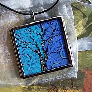 Acrylic Necklace Jewelry - The Art Tree Attitude by Dana Marie