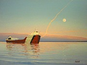 Great Lakes Ship Paintings - The Arthur M. Anderson by Dan Shefchik