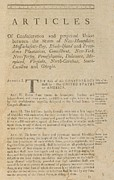 Democracy Framed Prints - The Articles Of Confederation. First Framed Print by Everett