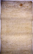 Handwritten Framed Prints - The Articles Of Confederation. The Framed Print by Everett