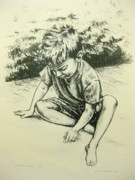 Summer Fun Drawings - The Artist at Work by Jaymi Krystowiak