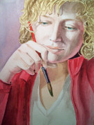Self-portrait Paintings - The Artist by Irina Sztukowski